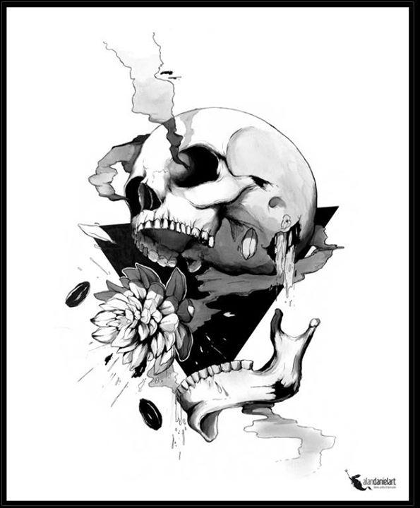 Skull illustrations by Alan Daniel Art 1