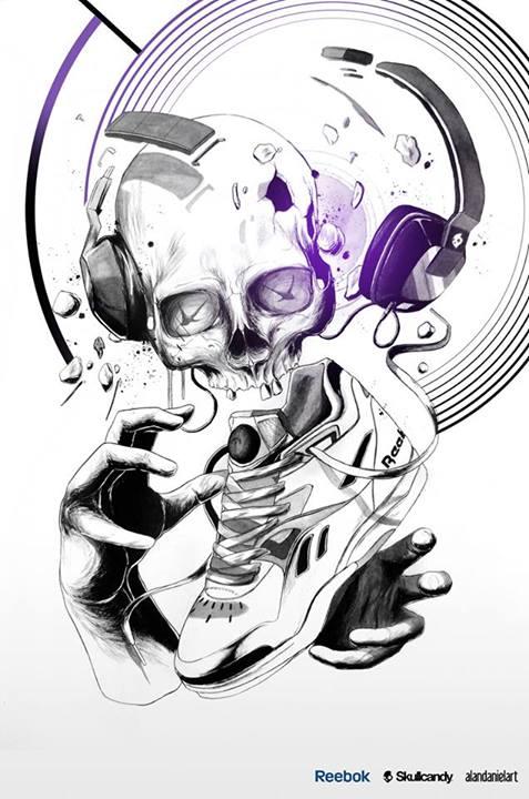 Skull illustrations by Alan Daniel Art