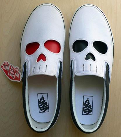 Skull motif in shoes 2
