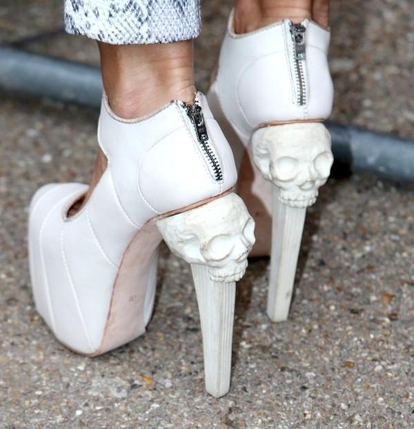 Skull motif in shoes