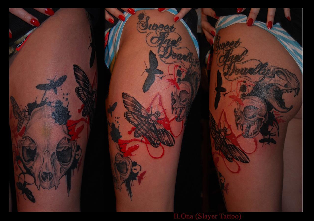 Skull tattoos by ILOna 1
