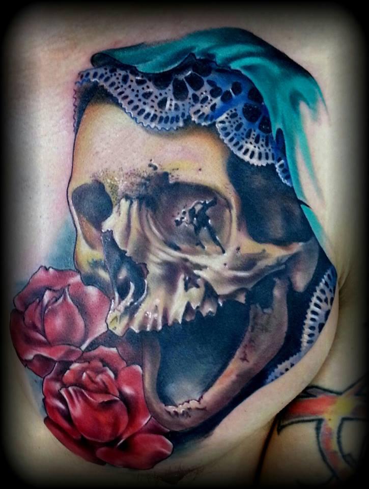 skull tattoos by Rodney Eckenberger 1