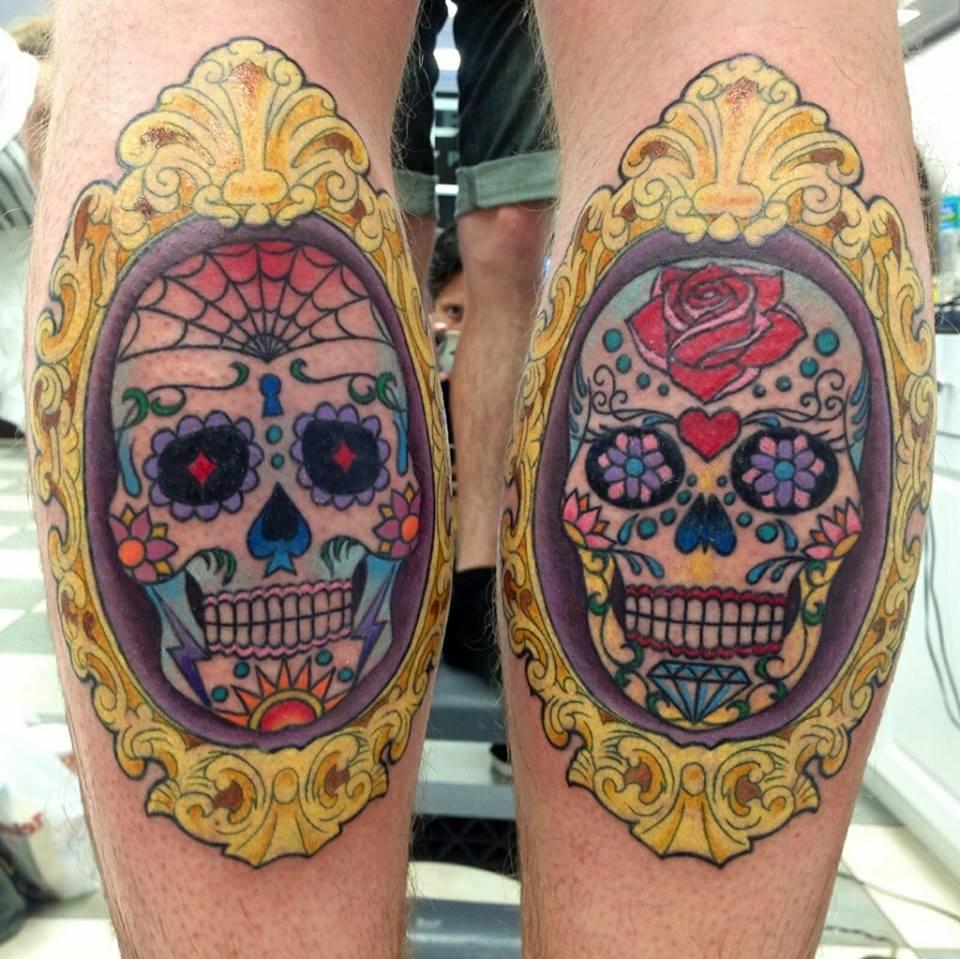 day of the dead skull tattoo. Black Bedroom Furniture Sets. Home Design Ideas