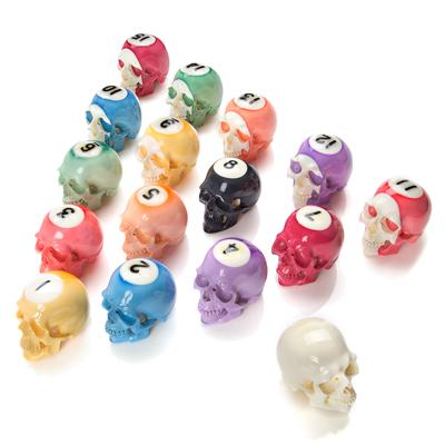 Handmade Billiard Ball Skull Set 1