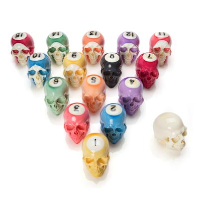 Handmade Billiard Ball Skull Set