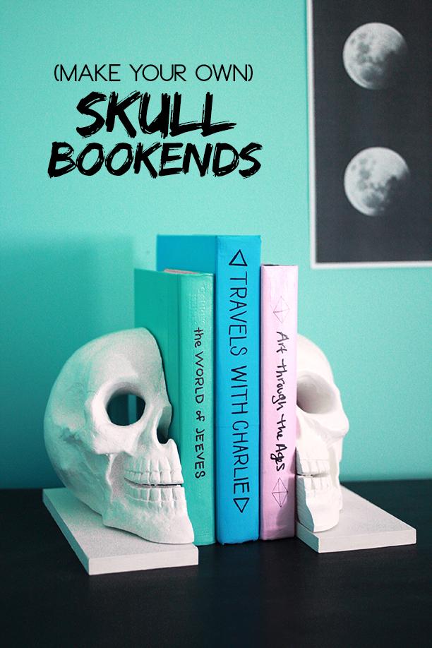Handmade Skull Bookends