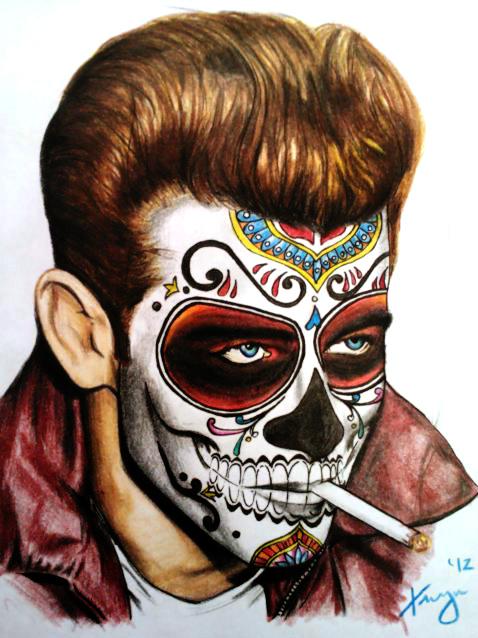 James Dean meets Dia de Los Muertos