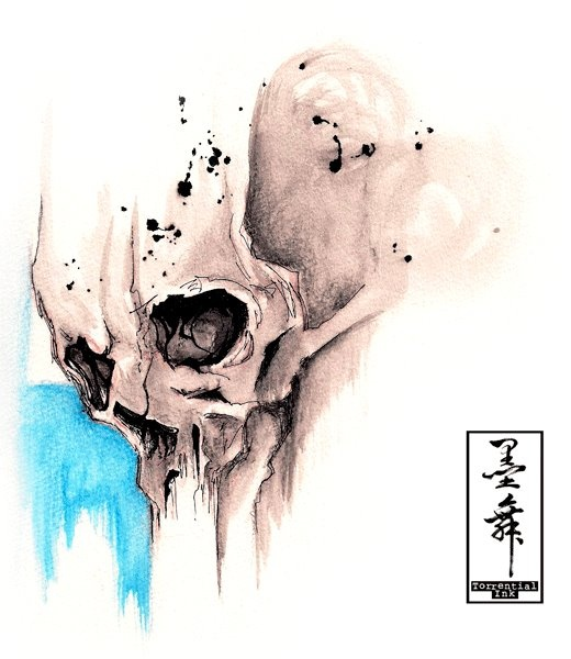 Skull illustrations by Jodic Chan