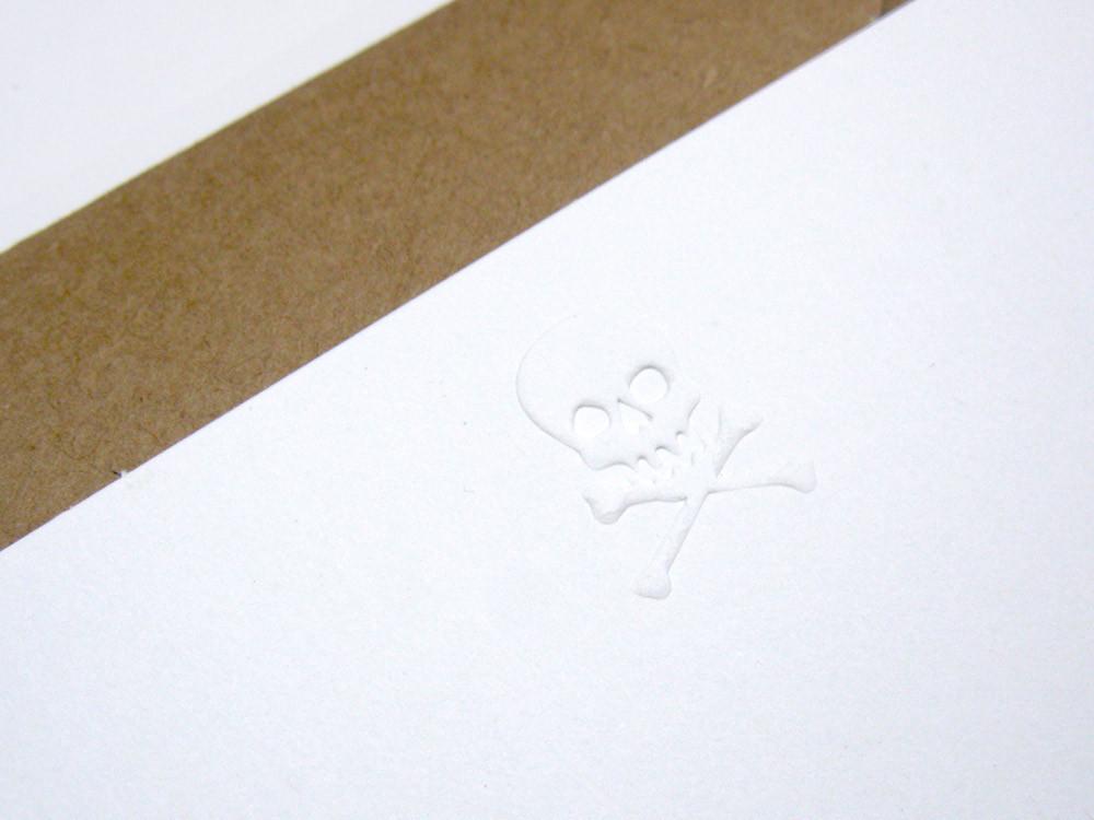 Skull note cards