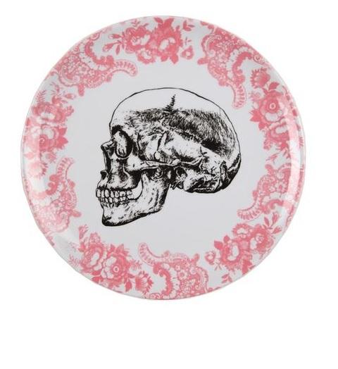 Skull picnic plate