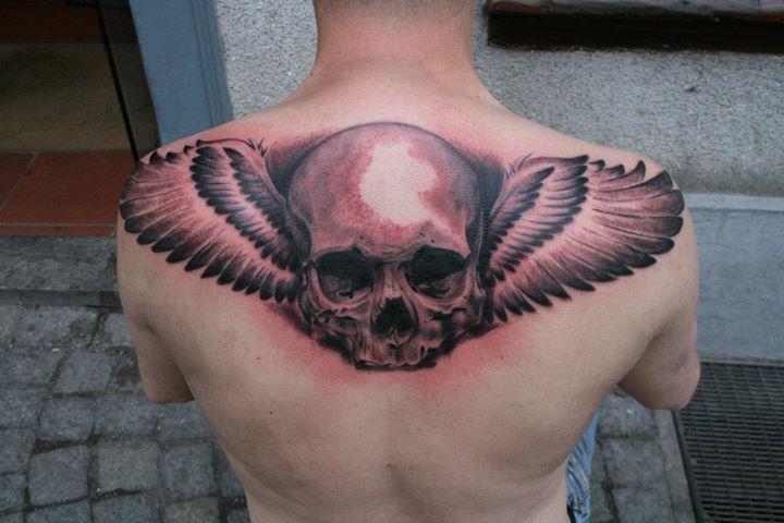 Skull tattoos by Boris Backert 1