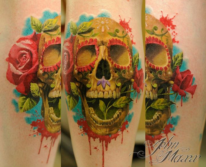Skull tattoos by John Maxx 3