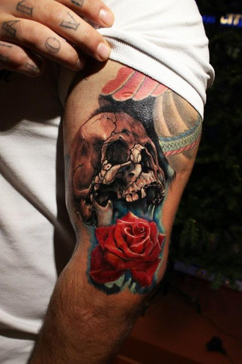 Skull tattoos by Kostas Baronis Proki