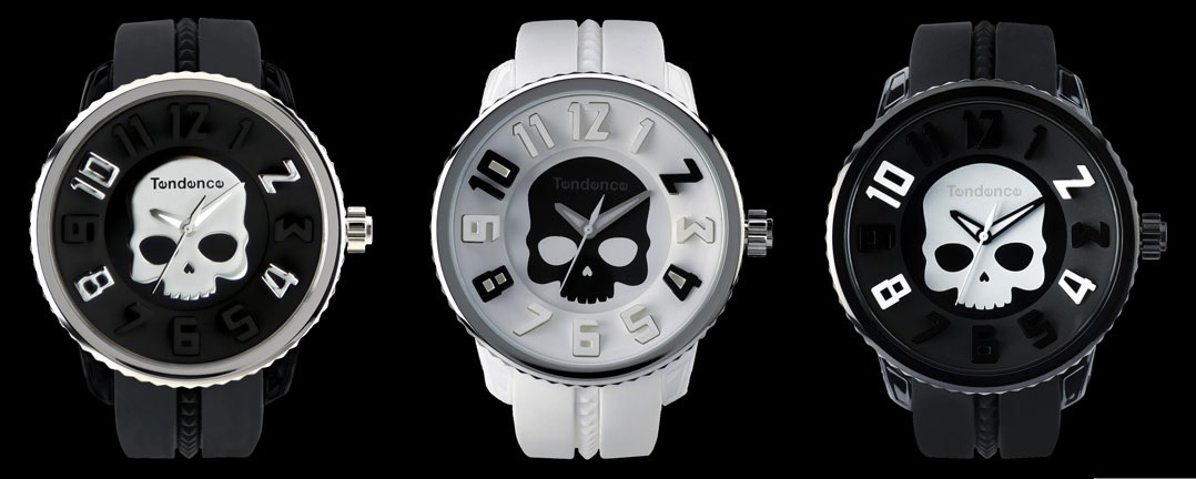 Skull watches from Tendence and Hydrogen