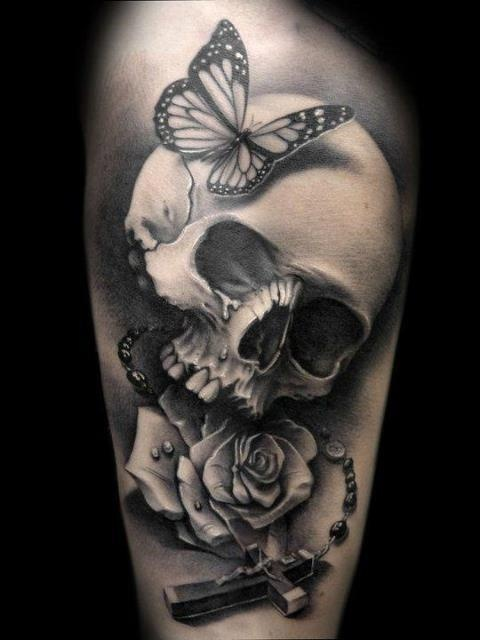 marvelous skull tattoo