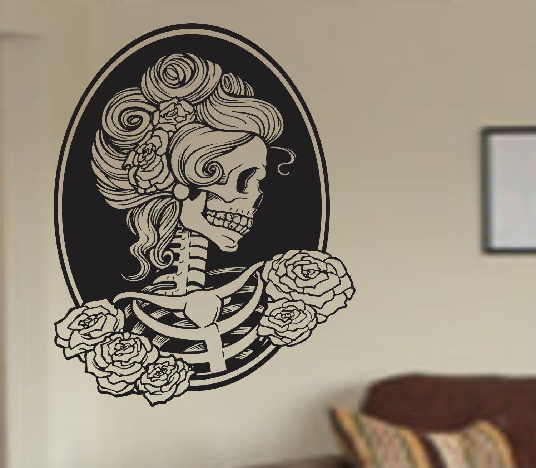 ... Wall Vinyl Decal Sticker Art Graphic Sticker Sugar Skull Sugarskull · 81sWID4OWQL.SL1500