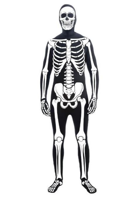 black skeleton halloween costume