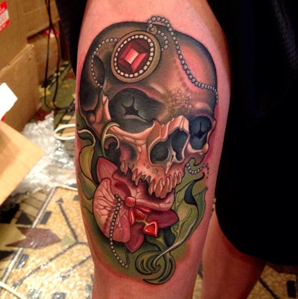 Colorful skull tattoos 1