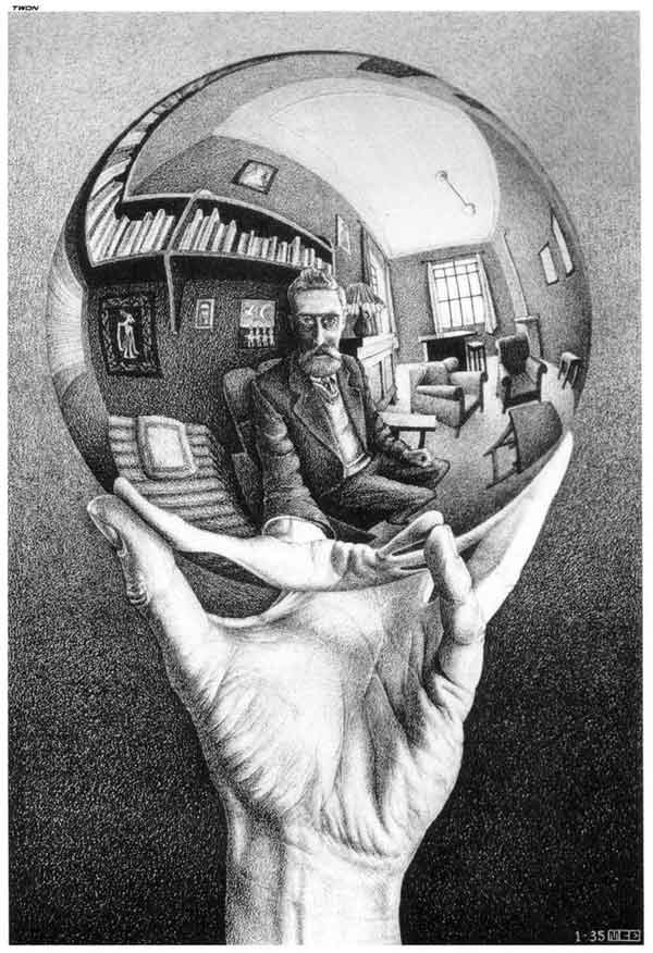 Hand Holding Reflective Sphere 1