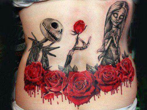Jack and Sally tattoo (3)