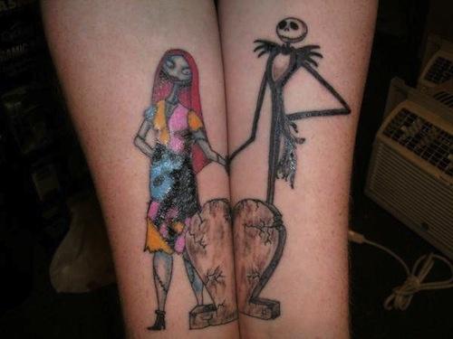 Jack and Sally tattoo (4)