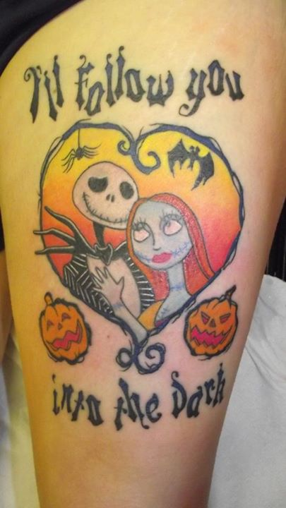 Jack and Sally tattoo (5)