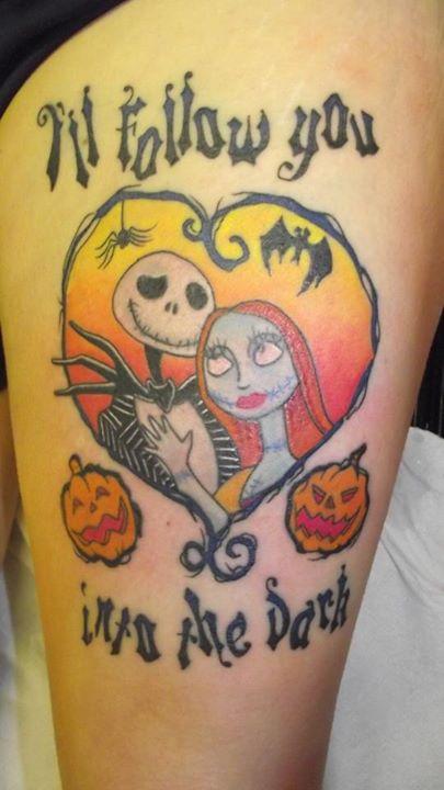 Jack and Sally tattoo (5)