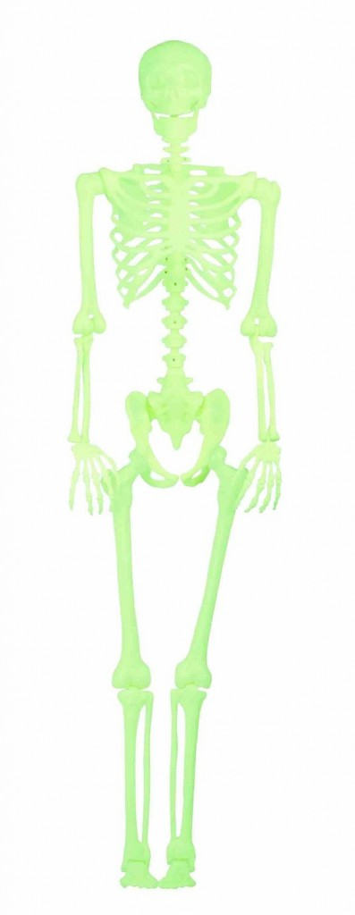 Mens Lifesize Glow in the Dark Skeleton