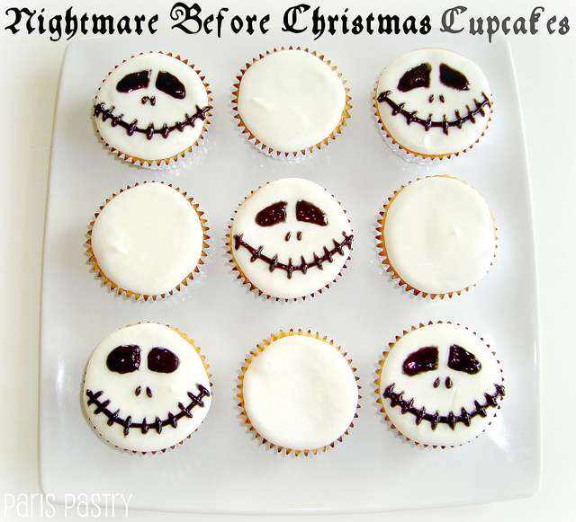 Nightmare before christmas cupcakes 1