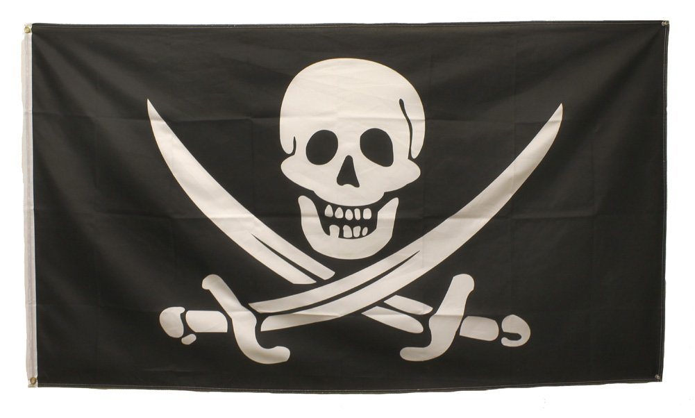Pirate Skull and Swords Flag