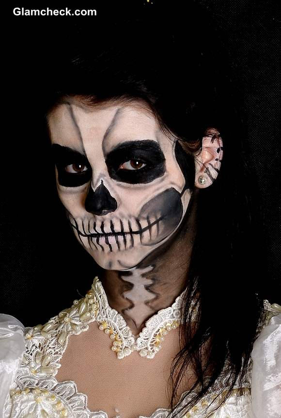scary skull face makeup - Scary Faces For Halloween With Makeup