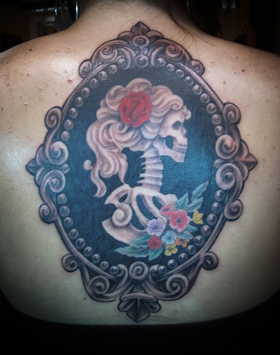 Skeleton Cameo Tattoo