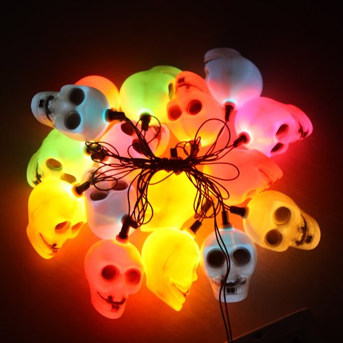 Skull Head Light String Lamp