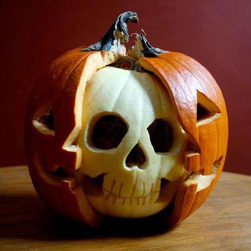 Skull Jack-O-Lantern