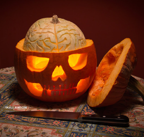 Skull Pumpkin Carving Ideas (3)