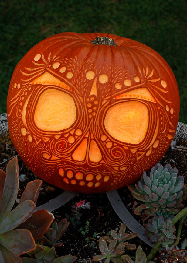 skull pumpkin carving ideas - Carving Pumpkin Ideas