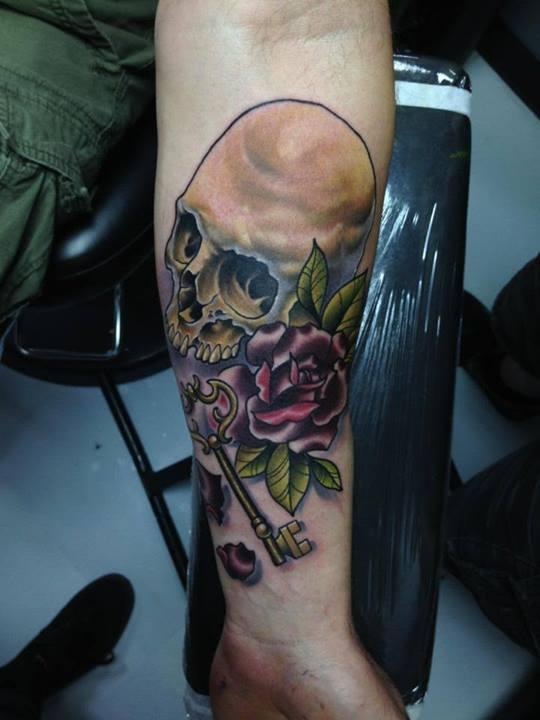 Skull tattoos by Tom Taylor 2