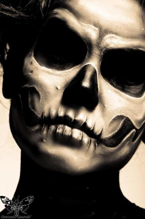 skull skull - Halloween Skull Face Paint Ideas