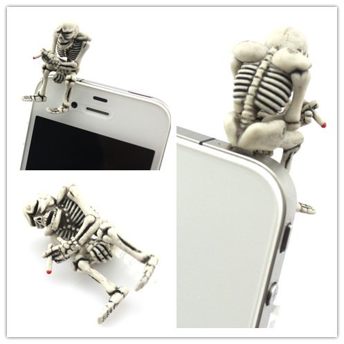 Smoking Skeleton Headphone