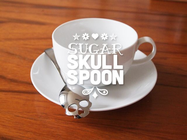 Sugar Skull Spoon by HUNDRED MILLION