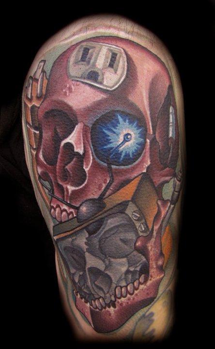 Timmy B skull tattoo 1