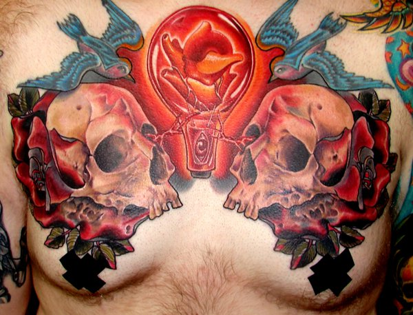 Timmy B skull tattoo 3