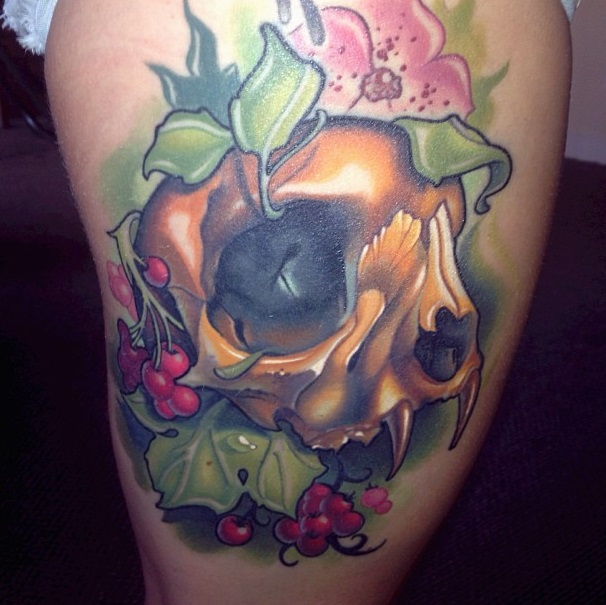 Timmy B skull tattoo 4