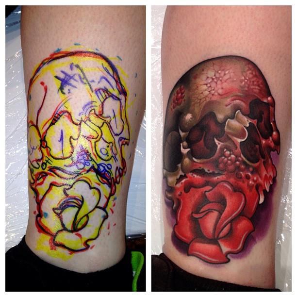 Timmy B skull tattoo