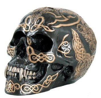 Tribal Celtic Skull Statue
