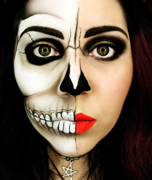 awesome skull makeup