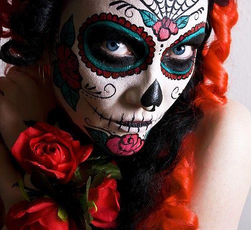 candy skull makeup