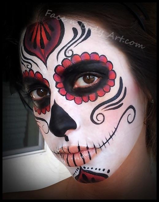 classic sugar skull makeup