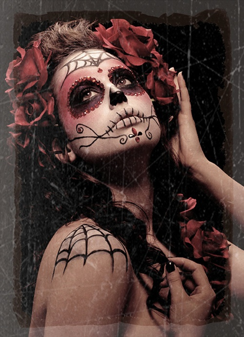 day of the dead makeup idea (2)