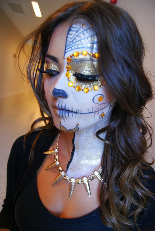 day of the dead sugar skull - Halloween Day Of The Dead Face Paint